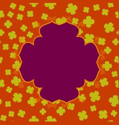 Violet abstract cleber mandala print vector