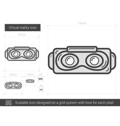 Virtual reality line icon vector