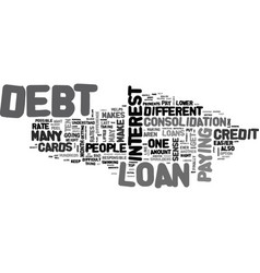 Why a loan to consolidate debt makes sense text vector