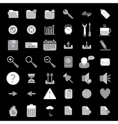 basic web icon set vector image