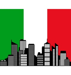 city and flag of italy vector image vector image