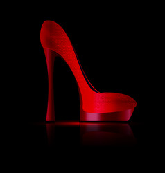 Dark and red shoe vector
