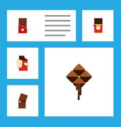 Flat icon chocolate set of shaped box chocolate vector