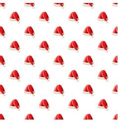 new year santa claus hat pattern vector image vector image
