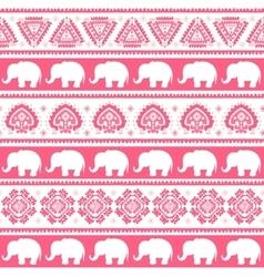 Vintage Indian elephant vector image vector image