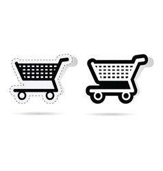 basket sticker vector image