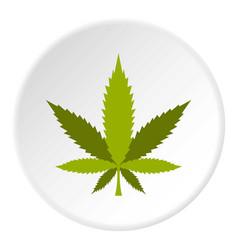 marijuana leaf icon circle vector image