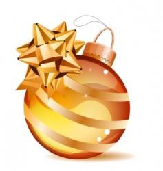 Christmas gold ball isolated vector image