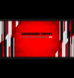 geometric red background design vector image vector image