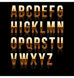 Gold Font Set 1 File contains graphic style vector image