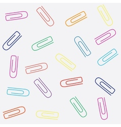 Paperclips seamless pattern vector image