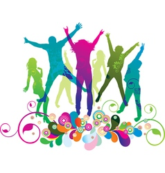 party and dance vector image vector image