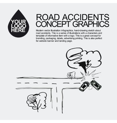 Road accident The car crashed incident vector image
