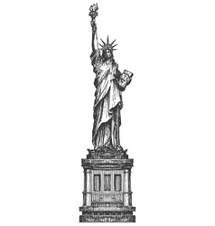statue of liberty logo design template America or vector image vector image