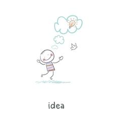 The birth of an idea vector image