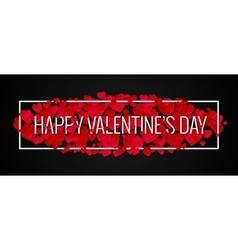 Valentines Day Banner Design Background vector image vector image
