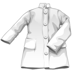 White medical gown medicine icon vector image vector image