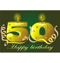 50 year anniversary vector
