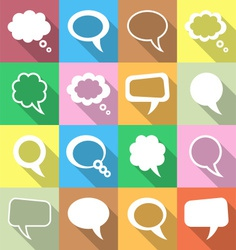 Colorful speech and thought bubbles vector image vector image