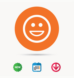 happy smile icon smiley laugh emoticon sign vector image vector image
