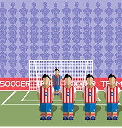 Paraguay Soccer Club Penalty on a Stadium vector image vector image