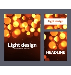 Poster design template with bokeh light effect vector
