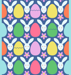 seamless pattern with colorful easter eggs and vector image vector image