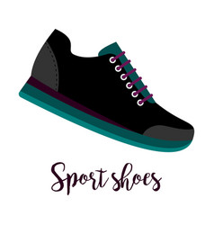 sport shoes icon with text vector image