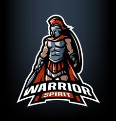 Warrior spirit the roman warrior logo vector