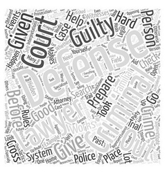 What a Criminal Defense Lawyer Can Do For You Word vector image