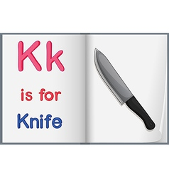A picture of knife in book vector