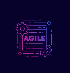 Agile software development process line icon vector