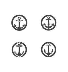 anchor icon logo template vector image