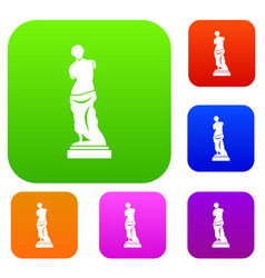 ancient statue set collection vector image