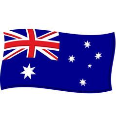 australian flag graphic vector image