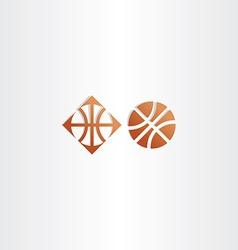 Basketball icon logo sign vector