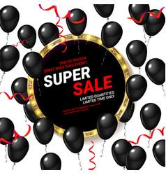 black balloons super sale vector image