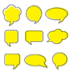 Blank empty white speech bubbles Stickers of speec vector