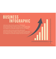 business graph with growth arrow design vector image