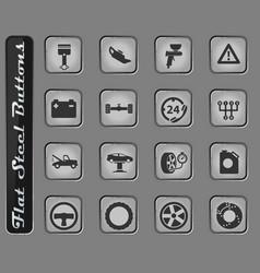 Car service simply icons vector