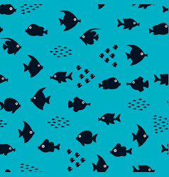 Cartoon fish silhouette pattern vector