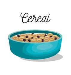 cereal dish healthy isolated vector image