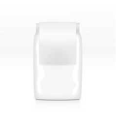 Cereal plastic bag with white clear label isolated vector