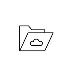 cloud folder icon vector image