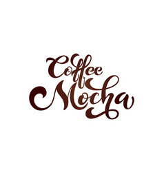 coffee mocha logo types of coffee vector image
