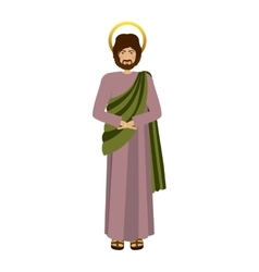 Colorful figure human of saint joseph vector