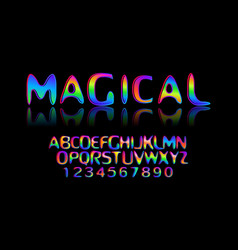 Colorful stylized font vector