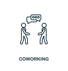 coworking outline icon thin style design from vector image