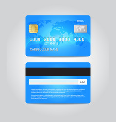Credit card template design two sides vector