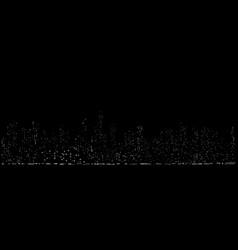 cyberpunk futuristic cityscape night light vector image